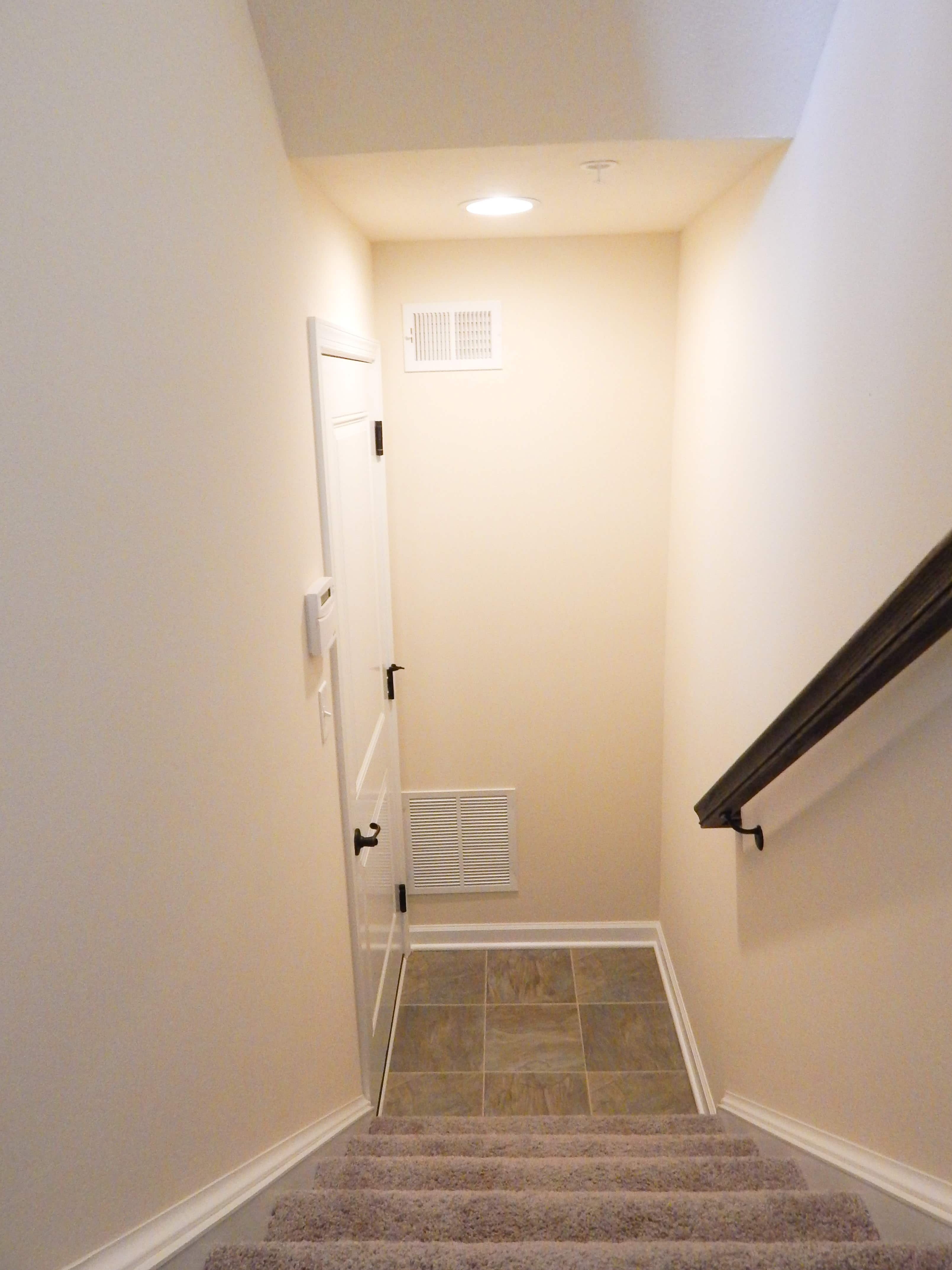 Basement Stairs to Garage Lower Level Ryan Homes Wexford