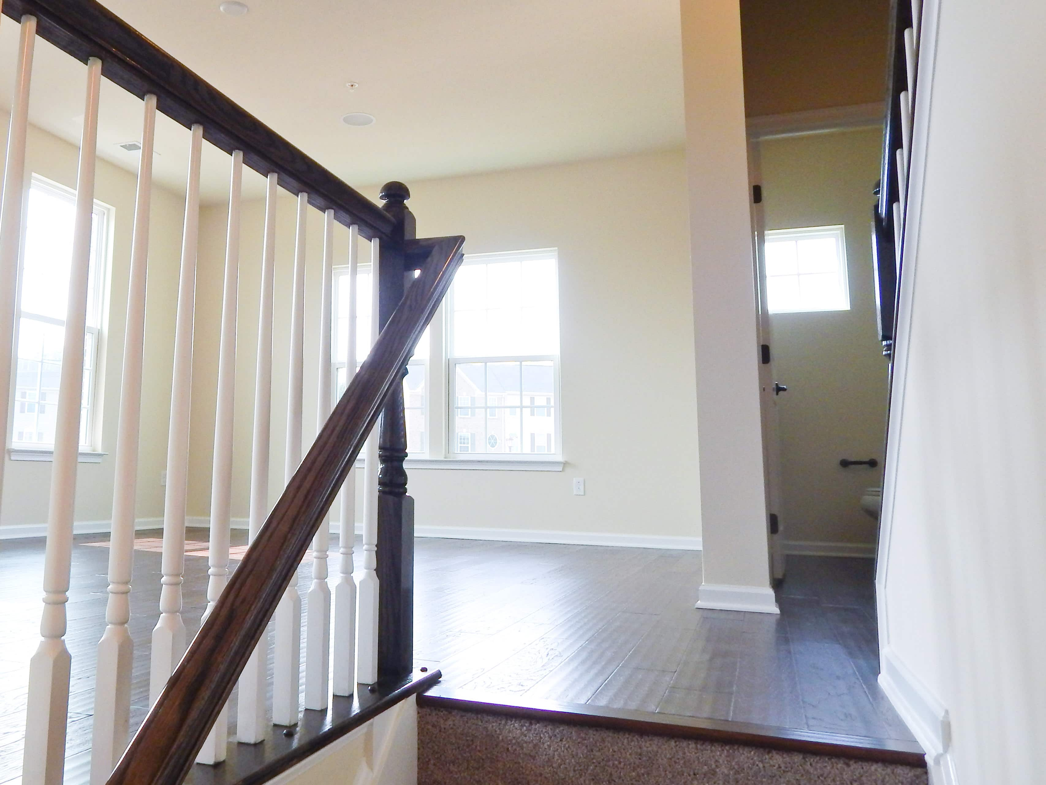 Staircase to Main Level Hardwood Floors Ryan Homes Wexford