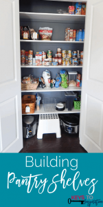 Building Pantry Shelves