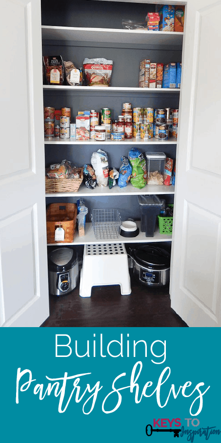 Great tutorial for building solid pantry shelves and getting rid of those wire shelves for good!