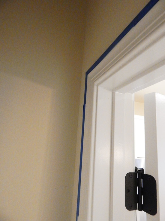 Taping the Inside Door Pantry