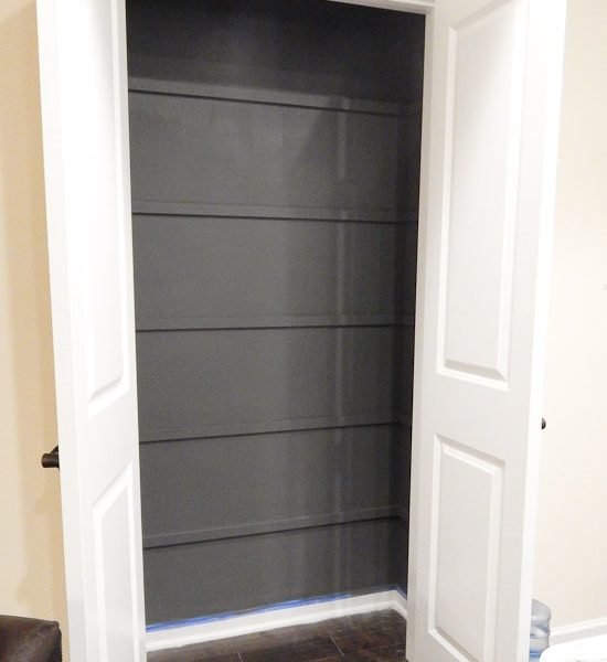Painted Pantry Gray no Shelves