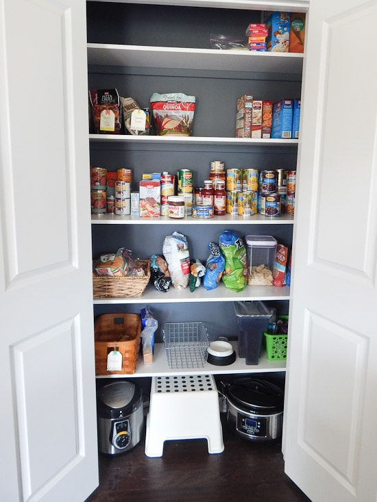 Pantry After with Items on Shelves