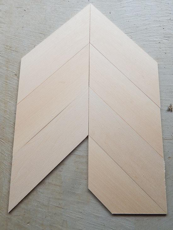 Dry Fit of Sign Herringbone Pattern