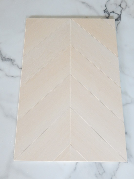 DIY Herringbone Sign Glued