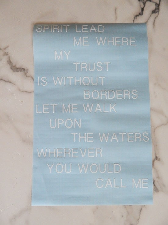 Cricut Explore White Vinyl Cut Oceans Lyrics