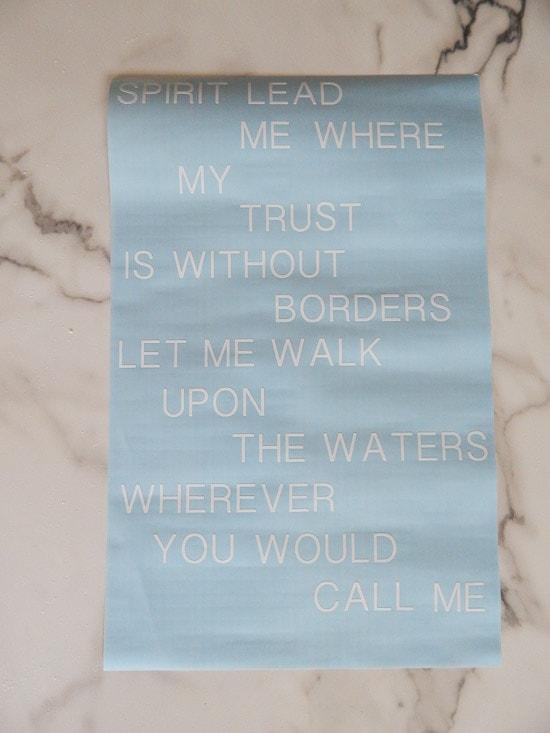 Cricut Explore White Vinyl Cut Oceans Lyrics