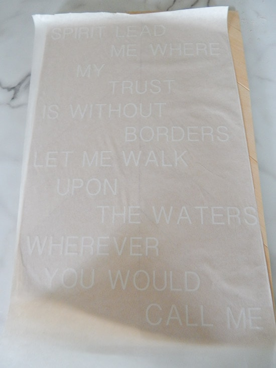 Cricut Explore White Vinyl Cut Oceans Lyrics Transfer Tape