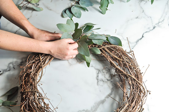 DIY Eucalyptus Wreath Tutorial-24