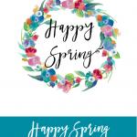 Happy Spring Wall Art {Free Printable}