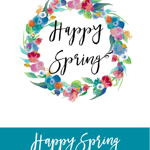 I love this adorable Happy Spring printable! Grab this FREEBIE now!