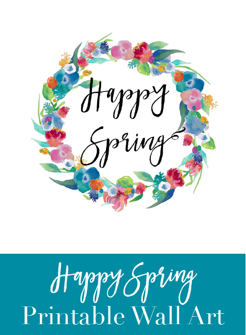 Happy Spring Wall Art {Free Printable}