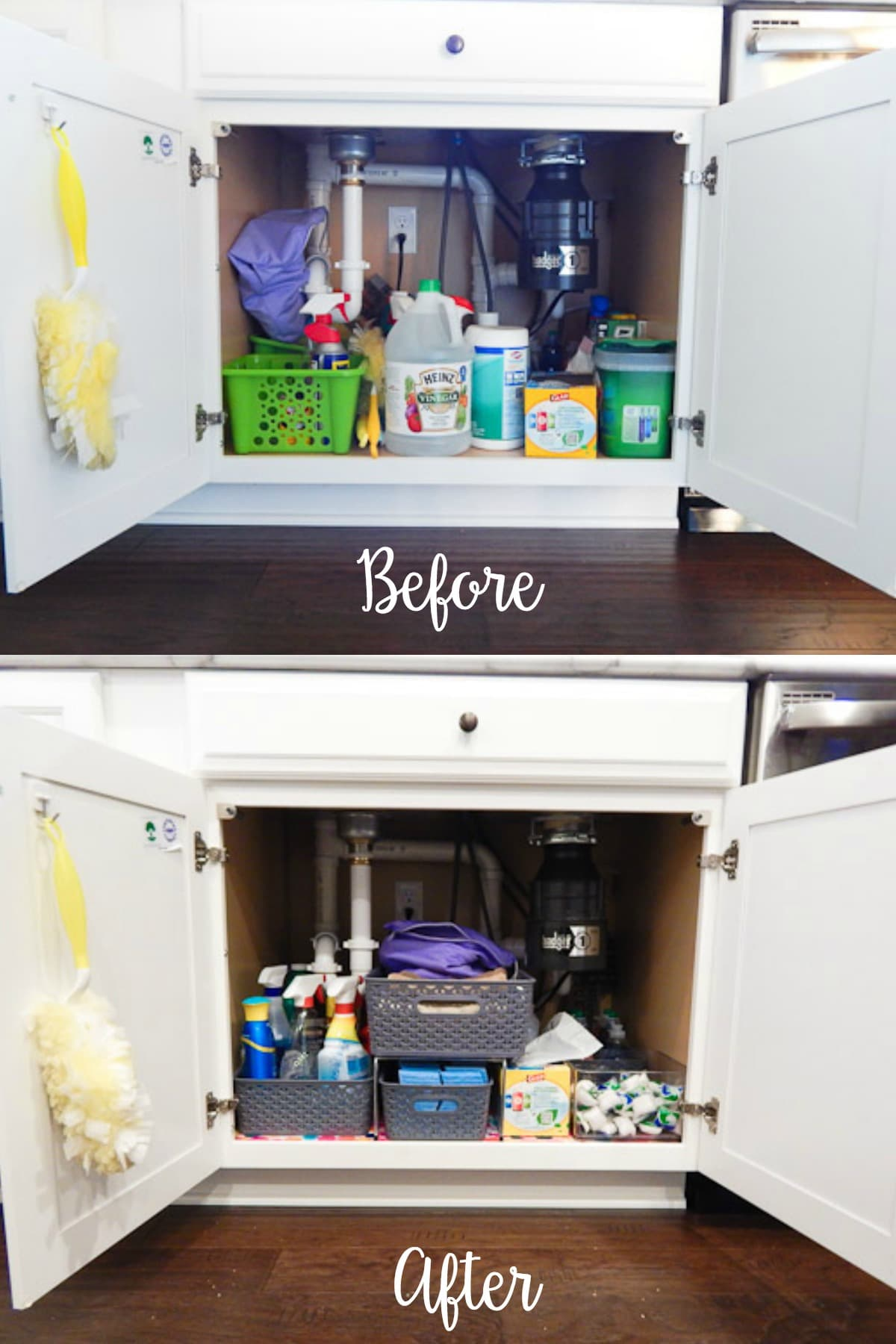Organizing Under The Kitchen Sink Before_After