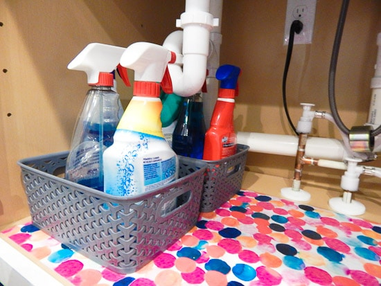 Organizing Under the Kitchen Sink L-15