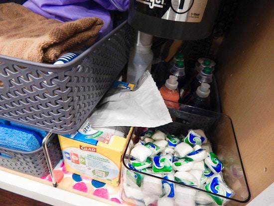 Organizing Under the Kitchen Sink L-17