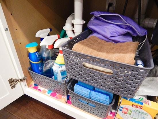 Organizing Under the Kitchen Sink L-18