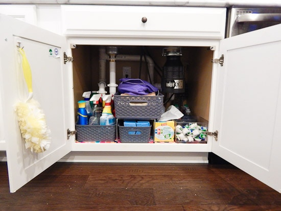 Organizing Under the Kitchen Sink L-22