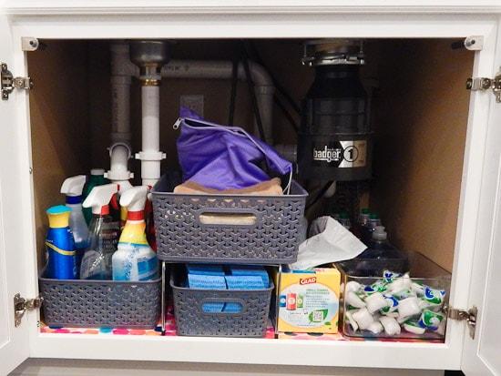 Organizing Under the Kitchen Sink L-23