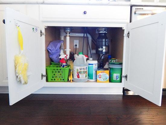 Organizing Under the Kitchen Sink L-3