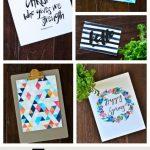 5 Fun Wall Art Printables {Free Printable}