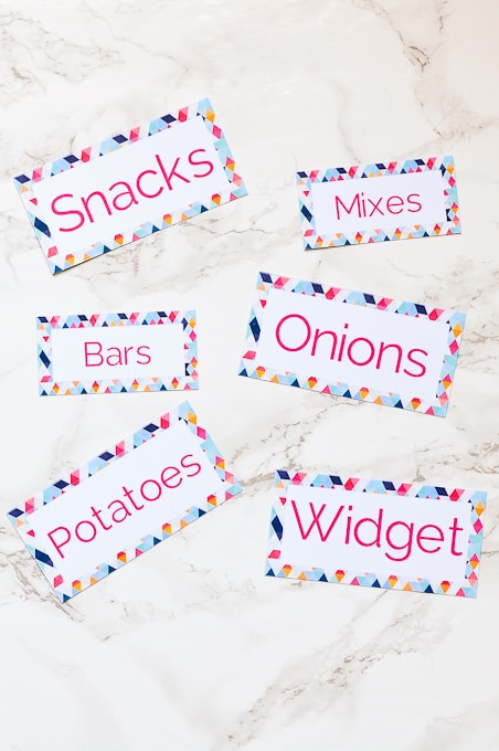 Cricut Explore Essentials: How to Make Pretty Organizing Labels