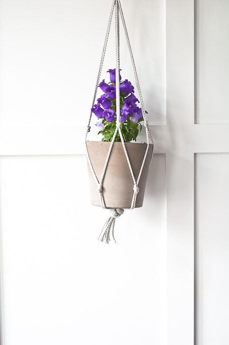 Easy Macramé Hanging Planter