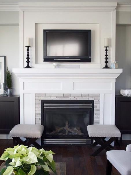 modern fireplace surround white trim work