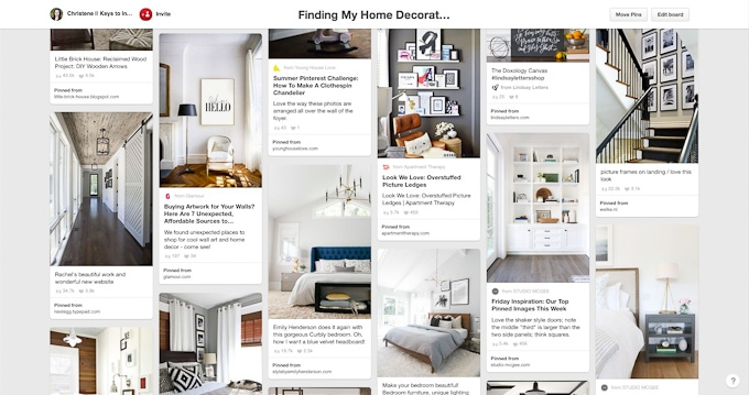 home decor and styling pinterest board pins