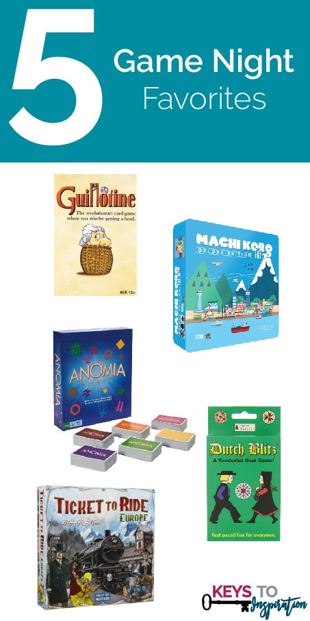 Friday 5 - Game Night Favorites: 5 great family game night games