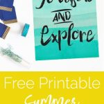 Summer Goals + Summer Wall Art! {Free Printable}
