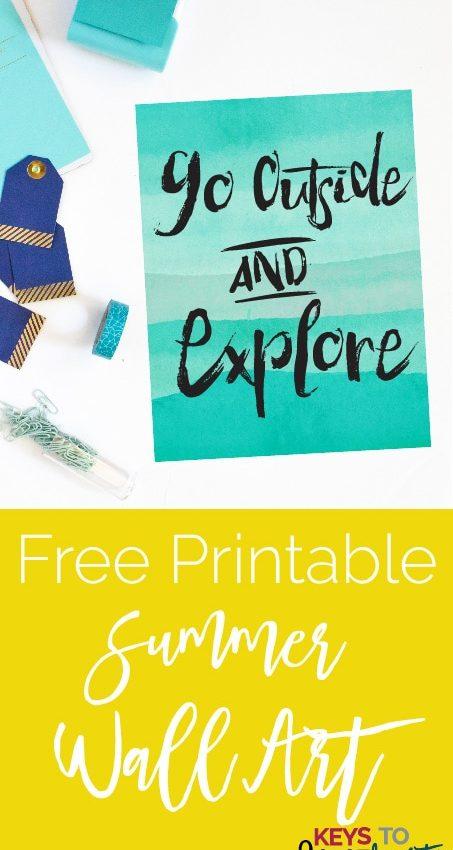 Summer Goals + Summer Wall Art! {Free Printable}