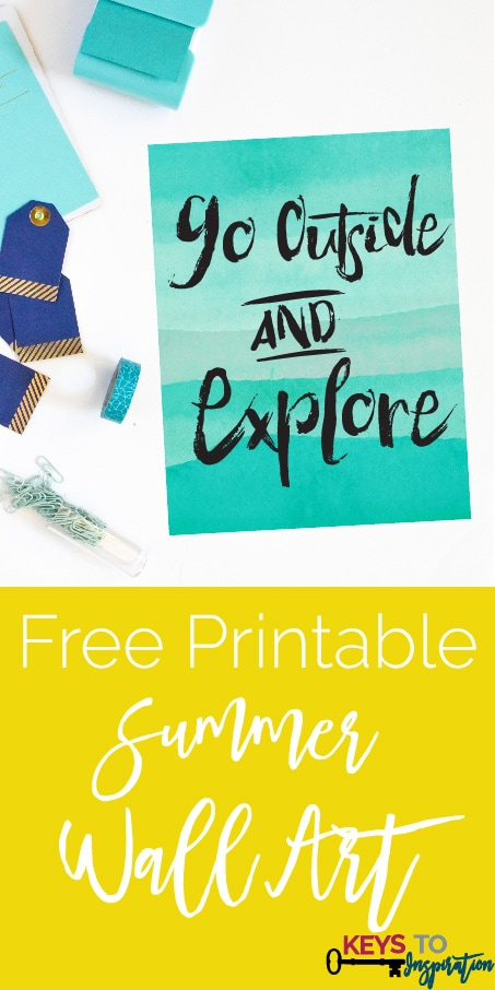 Bright and colorful FREE summer printable! Love this quote - it's perfect for summers outside :)