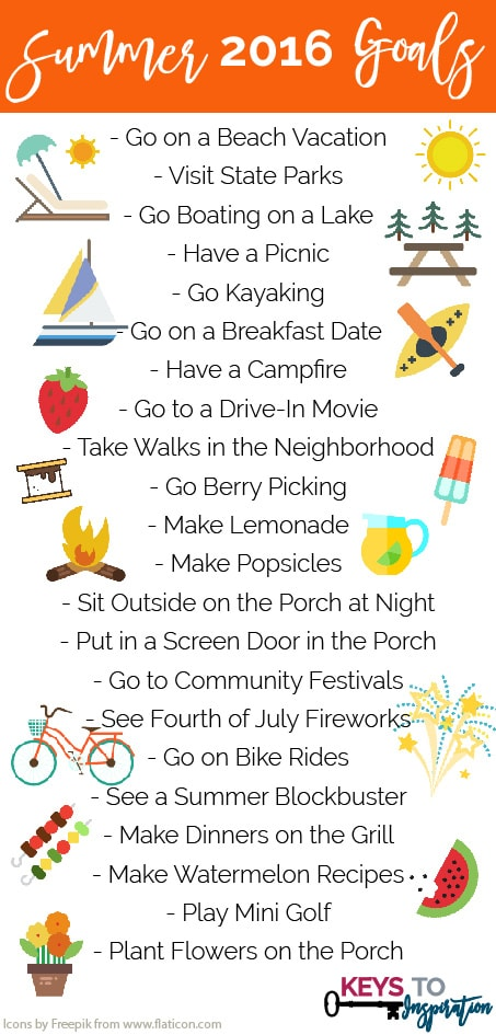 Fun bucket list of things to do this summer!