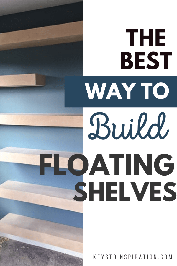 how to build floating shelves tutorail