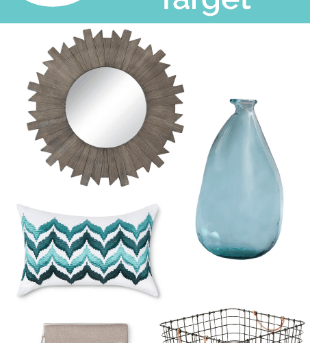 Friday 5 - Summer Home Decor Finds at Target: 5 summer home decor items that you can find at Target!