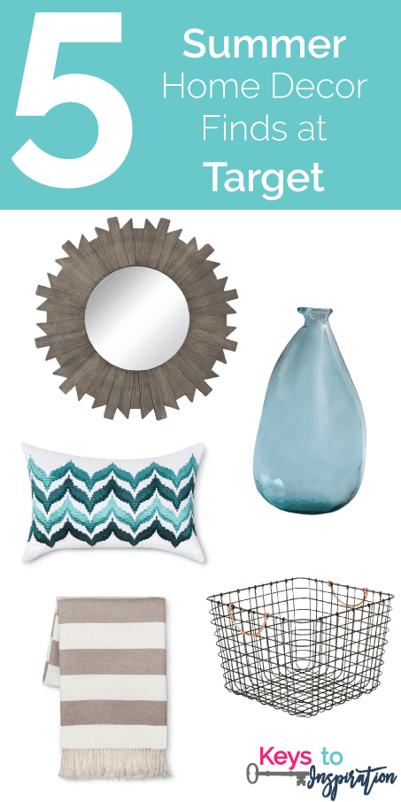 Friday 5 Summer Home Decor Finds At Target Keys To Inspiration