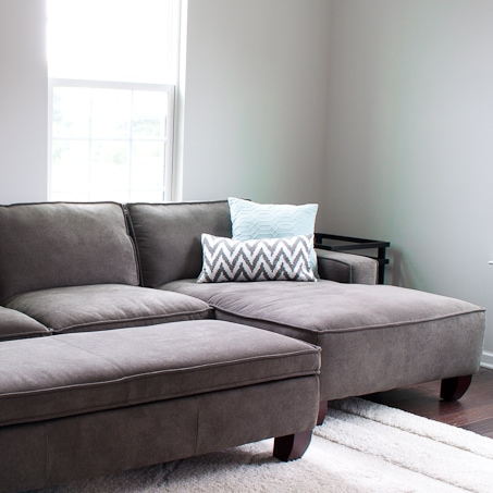 She shares her list of updates to transform her house into a home - this is the living room list!