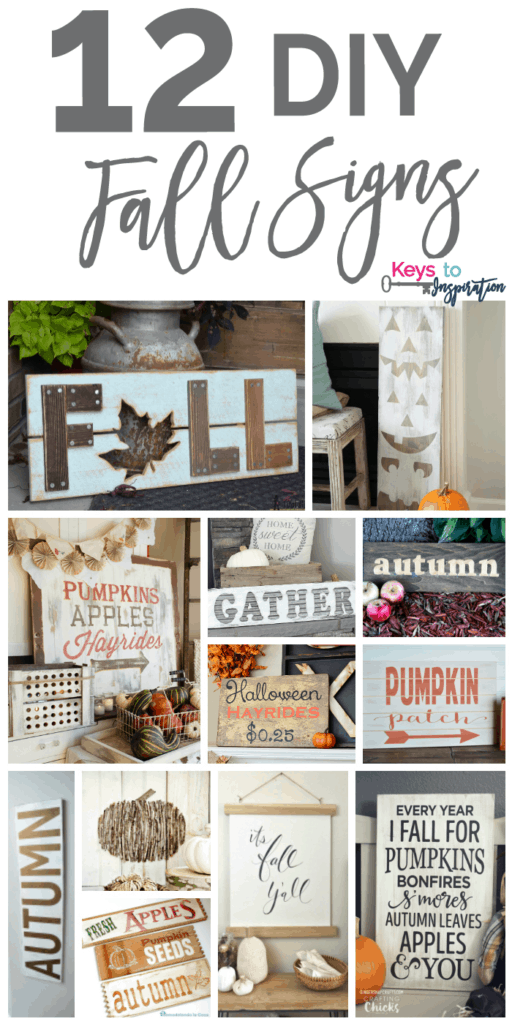 12 Diy Fall Signs 187 Keys To Inspiration