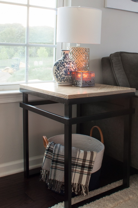 DIY Mixed Material End Tables