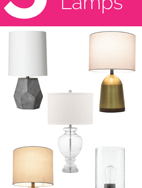 Friday 5 - Stylish Lamps: 5 modern textured lamps that add high-end design to your home with a budget price tag.