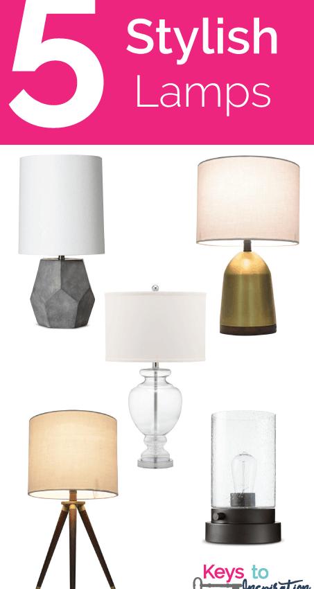 Friday 5 – Stylish Lamps