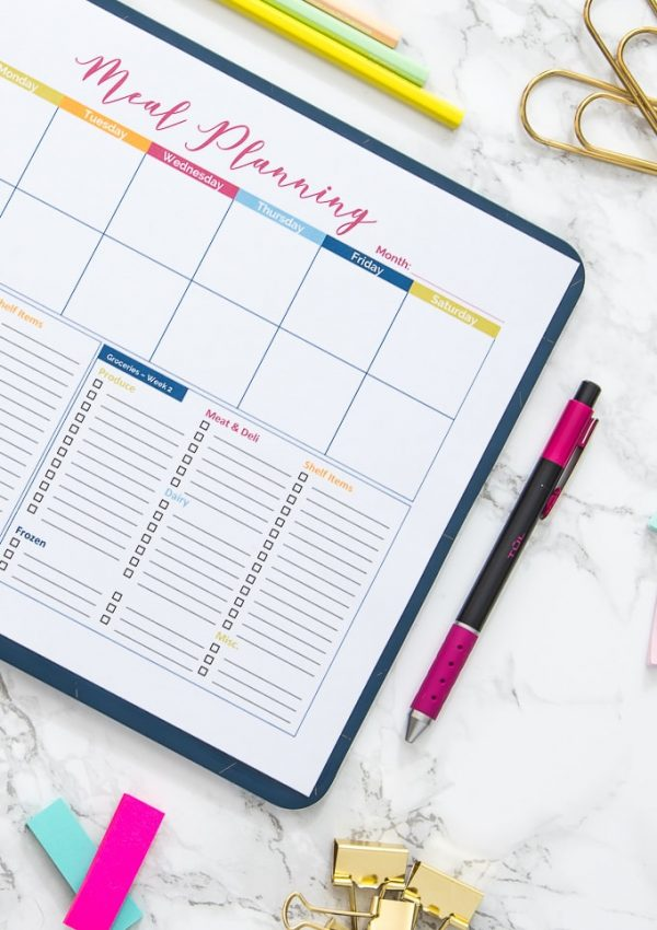 How I Organize My Meal Planning and Grocery Shopping {with Free Printable!}