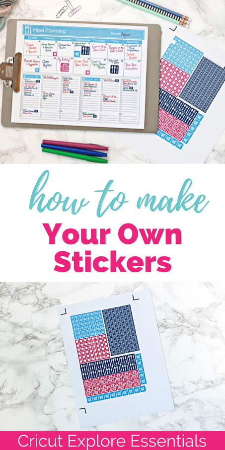 You can use the Cricut Explore to create and cut out your own stickers! Click for the full tutorial.