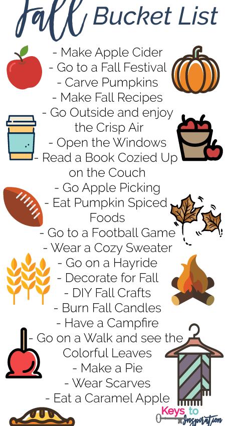 Fall Bucket List + Apple Cider Recipe!