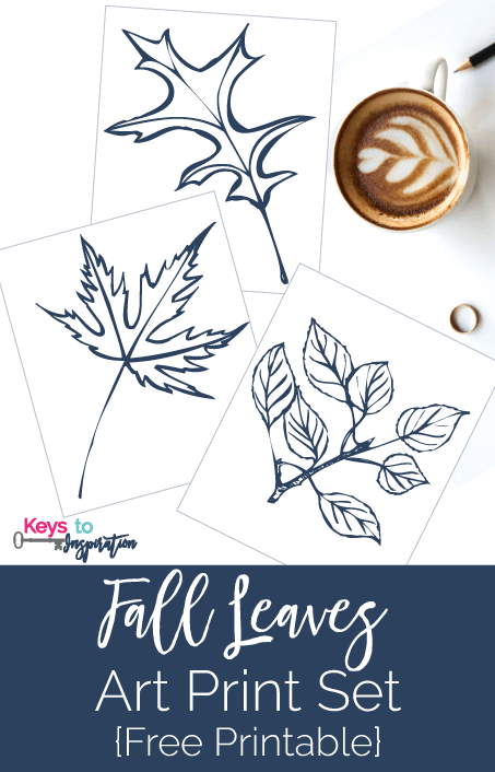Love this pretty fall leaves art print set! They are perfect for my fall home decor.