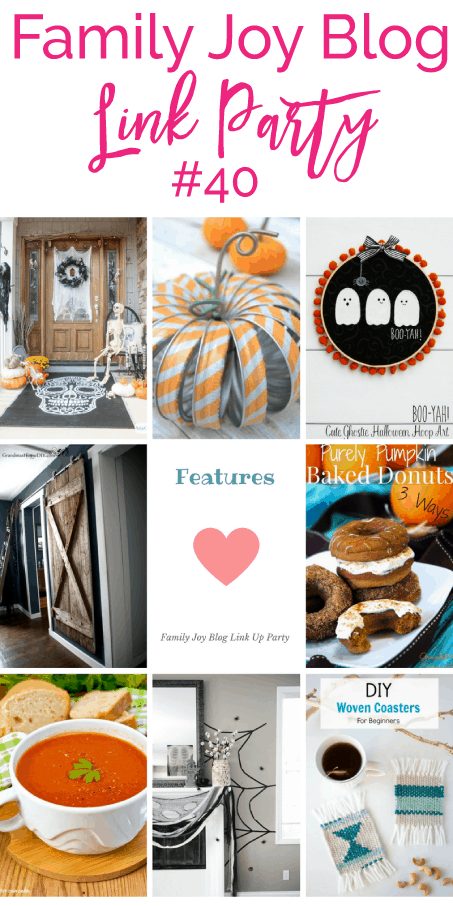Features from the Family Joy Blog Link Party #40. I love all the cute Halloween ideas.