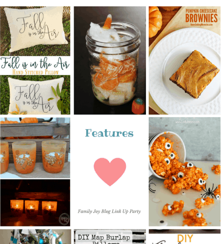 Features from the Family Joy Blog Link Party #41. So many cute fall ideas! I love it!