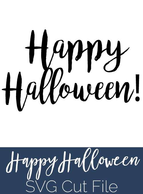 How to upload an svg in Cricut Design Space. I really love this hand-lettered Happy Halloween image!