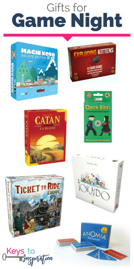 Gift ideas for game night with the family. Unique games that are fun for all! These make great Christmas gifts.