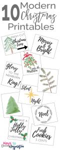 10 Modern Christmas Printables